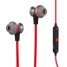 Bezdrátová sluchátka HOCO + ovládání a mikrofon pro Apple a další zařízení - červeno-černá