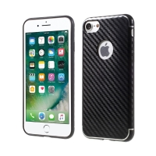 Kryt ISMILE pro Apple iPhone 7 / 8 gumový - karbonový vzor