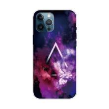 Kryt pro iPhone 12 Pro Max - gumový - galaktický trojúhelník