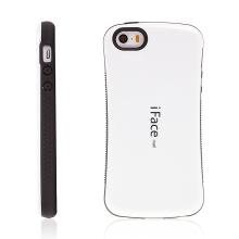 Kryt iFace pro Apple iPhone 5 / 5S / SE plasto-gumový - bílý