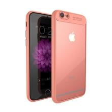 Kryt IPAKY pro Apple iPhone 6 / 6S - plastový / gumový - průhledný / růžový