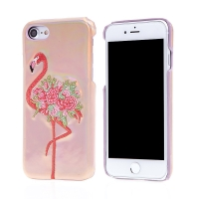 Kryt pro Apple iPhone 7 / 8 - plastový - růžový - plameňák