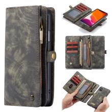 Pouzdro CASEME pro Apple iPhone 11 - peněženka + odnímatelný kryt na telefon - prostor na doklady - šedé