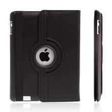 Pouzdro / kryt pro Apple iPad 2. / 3. / 4.gen - 360° otočný držák - černé
