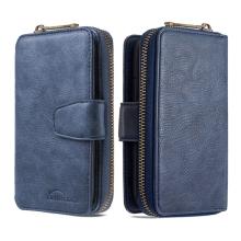 Pouzdro / peněženka pro Apple iPhone 12 / 12 Pro - umělá kůže - tmavě modré