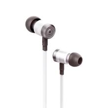 Sluchátka SWISSTEN pro Apple zařízení - špunty - ovládání + mikrofon - kov / guma - stříbrná