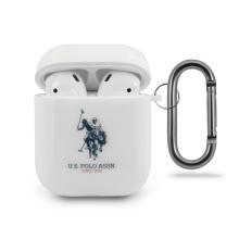 Pouzdro / obal U.S. POLO pro Apple AirPods - silikonové - bílé