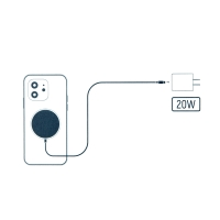 Bezdrátová nabíječka / nabíjecí podložka Qi DEVIA 15W - USB-C - bílá