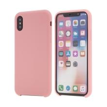 Kryt pro Apple iPhone Xs - gumový - příjemný na dotek - růžový