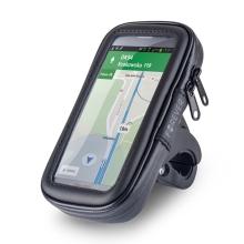 Sportovní pouzdro na kolo / motorku pro Apple iPhone 6 / 6S / 7 / 8 - se zipem - voděodolné - černé