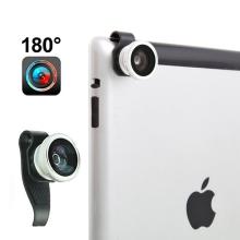 Širokoúhlý objektiv (rybí oko 180°) s osazovacím klipem pro Apple iPhone 4 & 4S / iPad
