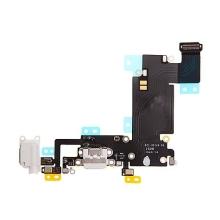 Napájecí a datový konektor s flex + audio konektor jack + GSM anténa + mikrofony pro Apple iPhone 6S Plus - bílý - kvalita A+
