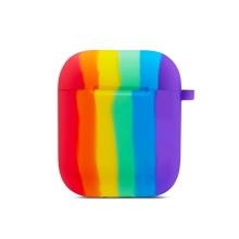 Pouzdro / obal pro Apple AirPods - silikonové - duhové
