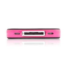 Speciální ochranný silikonový bumper SGP Neo Hybrid EX + fólie pro iPhone 4 - růžový