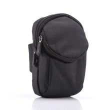 Brašna / pouzdro - pásek na ruku - dvě kapsy - karabina - pro Apple iPhone - látková - černá