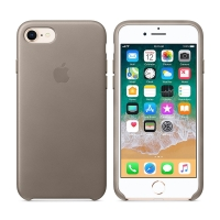 Originální kryt pro Apple iPhone 7 / 8 - kožený - kouřový