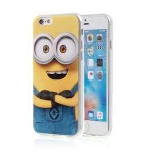 Kryt MIMONI pro Apple iPhone 6 / 6S - smějící se mimoň - žlutý