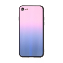 Kryt pro Apple iPhone 7 / 8 / SE (2020) - sklo / guma - růžový / černý