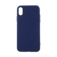 Kryt pro Apple iPhone X - ultratenký - gumový - tmavě modrý