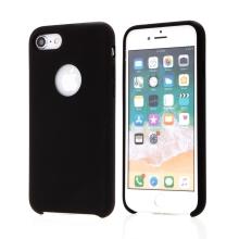 Kryt pro Apple iPhone 7 / 8 - gumový - příjemný na dotek - výřez pro logo - černý