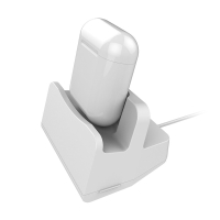 Nabíjecí / dokovací stanice / stojánek pro Apple iPhone / AirPods - plastová - bílá