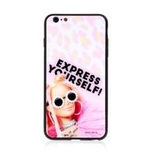 Kryt BARBIE pro Apple iPhone 6 Plus / 6S Plus - Express Yourself - skleněný - růžový