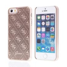 Kryt GUESS G pro Apple iPhone 5 / 5S / SE - plast / hliník - zlatý