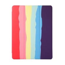 "Pouzdro pro Apple iPad 10,2"" (2019 - 2020) - gumový - fialový / duhový"