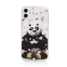 Kryt Kung Fu Panda pro Apple iPhone 11 - gumový - Po a okvětní lístky