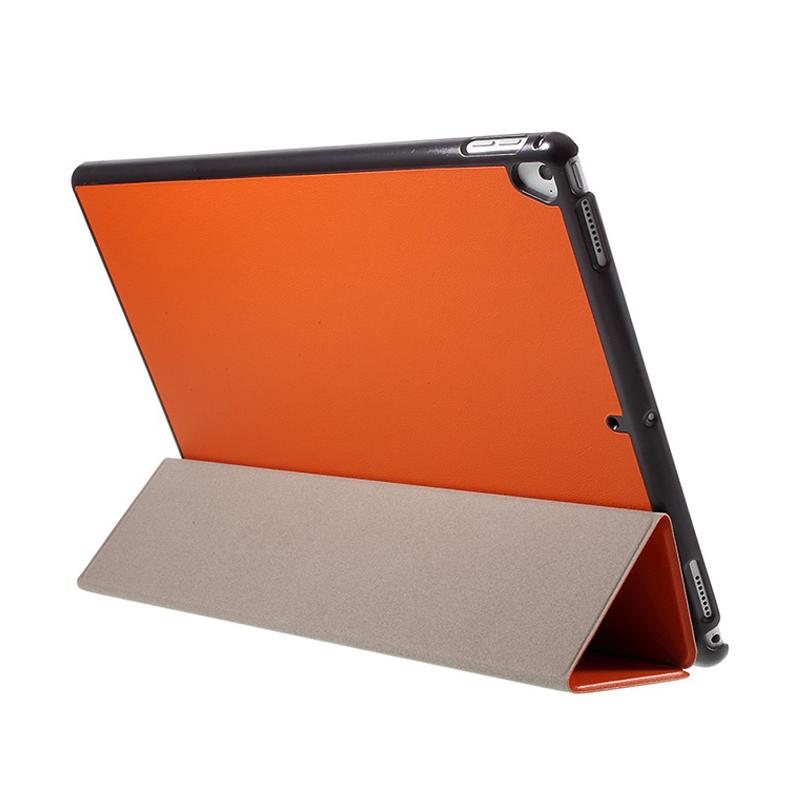 Pouzdro / kryt pro Apple iPad Pro 12,9 - integrovaný stojánek - umělá kůže - oranžové