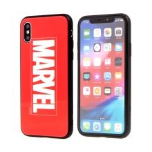 Kryt MARVEL pro Apple iPhone X - sklo / guma