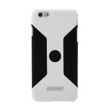 Ochranný plasto-gumový kryt Kalaideng pro Apple iPhone 6 Plus s magnetickým držákem do auta - bílo-černý