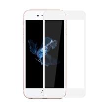 Tvrzené sklo (Tempered Glass) AMORUS pro Apple iPhone 7 / 8 - na přední stranu - bílý rámeček - 3D hrana - 0,23mm