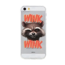 Kryt MARVEL pro Apple iPhone 5 / 5S / SE - Strážci Galaxie - Rocket - gumový - průhledný