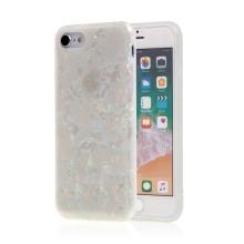 Kryt pro Apple iPhone 7 / 8 / SE (2020) - gumový - perleťový - bílý