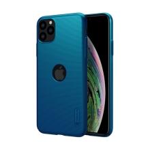 Kryt NILLKIN Super Frosted pro Apple iPhone 11 Pro Max - plastový - s výřezem pro logo - modrý