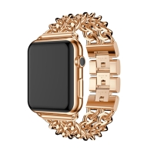 Řemínek pro Apple Watch 40mm Series 4 / 5 / 38mm 1 2 3 - s řetízky - kovový - zlatý