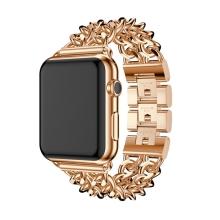 Řemínek pro Apple Watch 40mm Series 4 / 5 / 6 / SE / 38mm 1 / 2 / 3 - s řetízky - kovový - zlatý