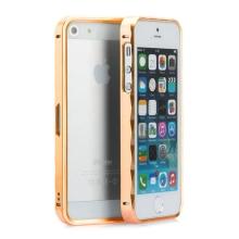 Rámeček / bumper pro Apple iPhone 5 / 5S / SE hliníkový - zlatý (champagne)