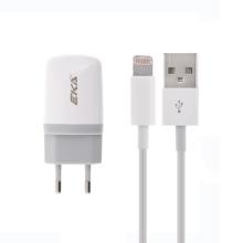 Nabíjecí sada 2v1 pro Apple iPhone / iPod - EU napájecí adaptér a USB kabel s Lightning konektorem - bílá