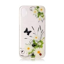 Kryt pro Apple iPhone X / Xs - gumový - květiny a motýli