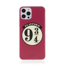 Kryt Harry Potter pro Apple iPhone 12 / 12 Pro - gumový - nástupiště 9 a 3/4 - červený