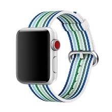 Originální řemínek pro Apple Watch 38mm Series 1 / 2 / 3 / 40mm Series 4 - nylonový - pruhovaný modrý