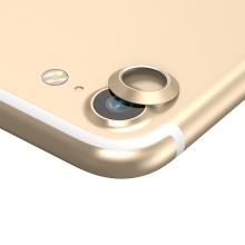 Kroužek / krytka BASEUS na kameru pro Apple iPhone 7 / 8 - kovový - zlatý