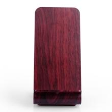 Bezdrátová nabíječka / nabíjecí podložka Qi  - stojánek - imitace dřeva