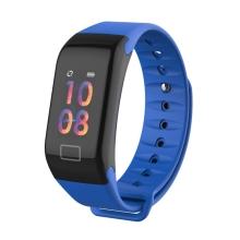 Sportovní fitness náramek LEMONDA - tlakoměr / krokoměr / měřič tepu - Bluetooth - vodotěsný - modrý