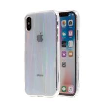 Kryt pro Apple iPhone X / Xs - duhový přechod - plastový / gumový - průhledný