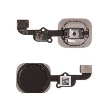 Obvod tlačítka Home Button + kovový rámeček + tlačítko Home Button pro Apple iPhone 6S / 6S Plus - černé - kvalita A+