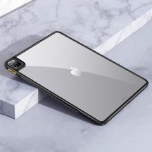 """Kryt / obal pro Apple iPad 12,9"""" (2018 / 2020 / 2021) - průhledný - plastový / gumový - černý"""