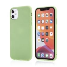Kryt pro Apple iPhone 11 - příjemný na dotek - silikonový - pistáciově zelený